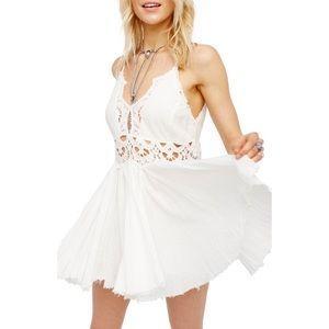 NWT Free People Ilektra Mini Dress White XS